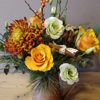 Christmas gift flowers
